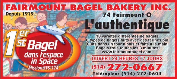 Ads Fairmount Bagel Bakery Inc