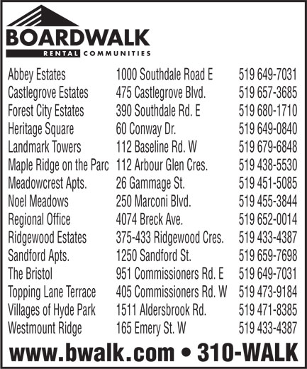 Ads Boardwalk Rental Communities