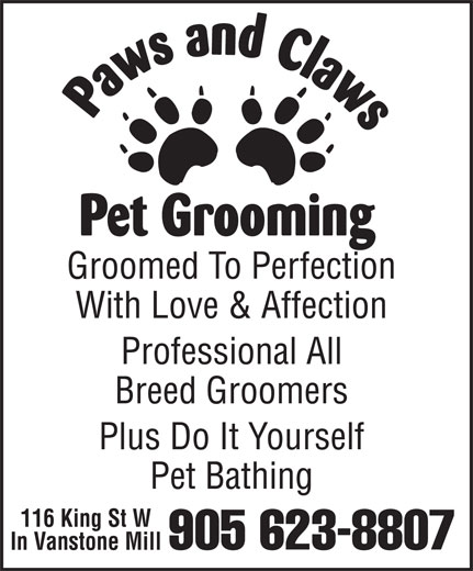 Ads Paws & Claws Pet Grooming