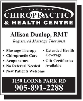 Ads Lorne Park Massage Therapy