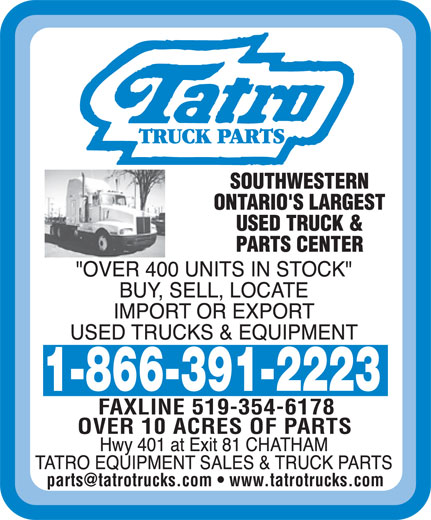 Ads Tatro Equipment Sales Ltd