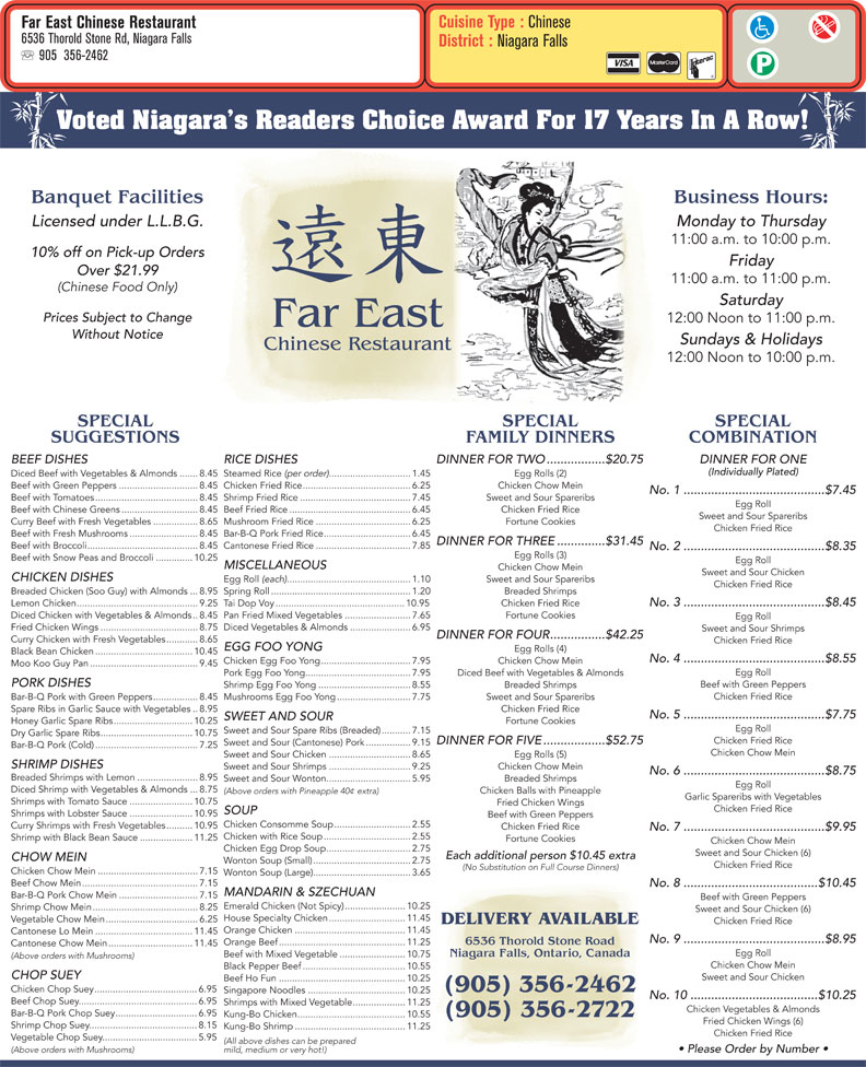 Chinese Food In Thorold