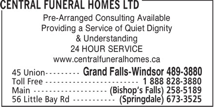 Ads Central Funeral Homes Ltd