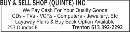 Ads Buy & Sell Shop (Quinte) Inc