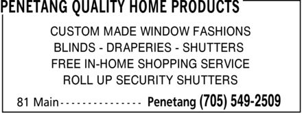 Ads Penetang Quality Home Products