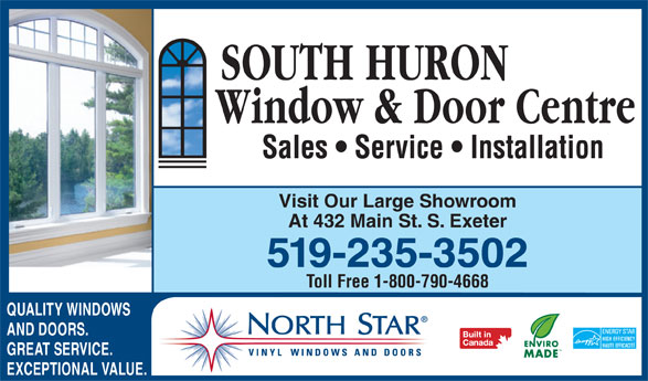 Ads South Huron Window &amp; Door Centre