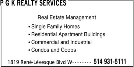 Ads P G K Realty Services