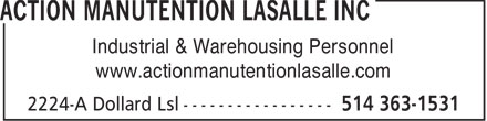 Ads Action Manutention Lasalle Inc