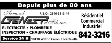 Ads Genest Armand & Fils Inc