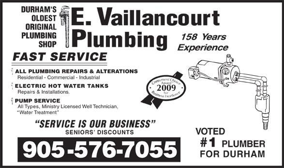 Ads E Vaillancourt Plumbing & Heating Ltd