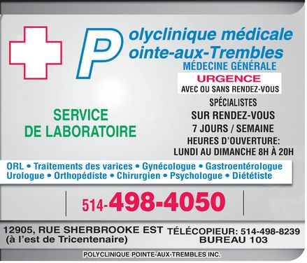 Ads Polyclinique Pointe-Aux-Trembles Inc
