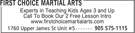 Ads First Choice Martial Arts