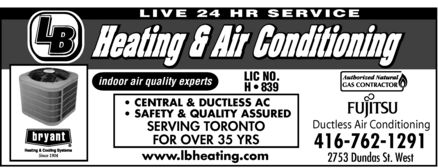 Ads L B Heating &amp; Air Conditioning