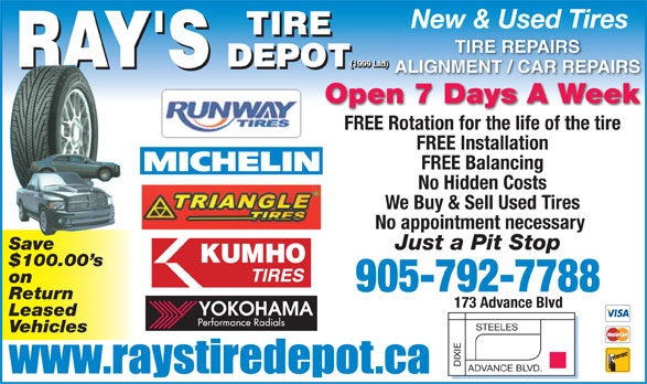 Ads Ray&#039;s Tire Depot (1999 Ltd)