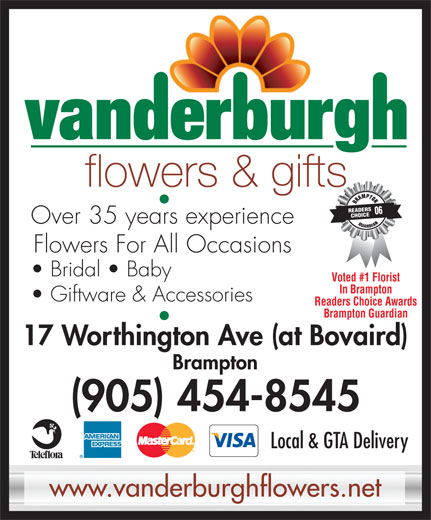 Ads Vanderburgh Flowers Ltd