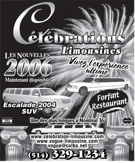Ads Célébrations Limousines