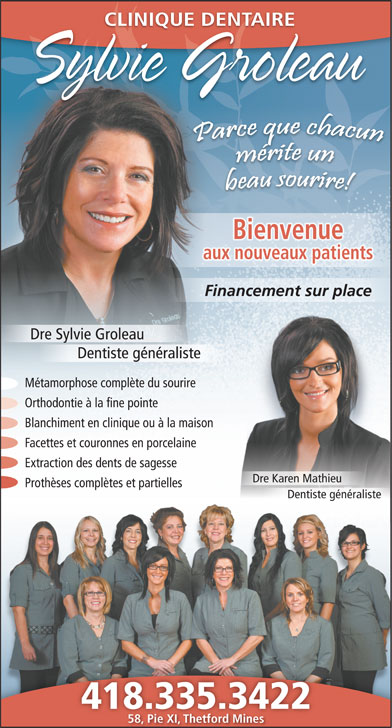 Ads Clinique Dentaire Sylvie Groleau
