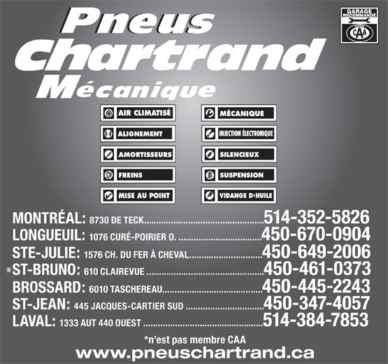 Ads Pneus Chartrand Mcanique