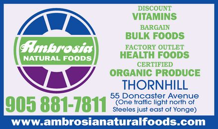 Ads Ambrosia Natural Foods