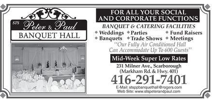 Ads Sts Peter & Paul Banquet & Catering Facilities