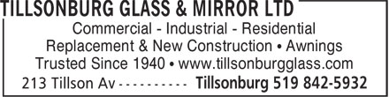 Ads Tillsonburg Glass &amp; Mirror Ltd