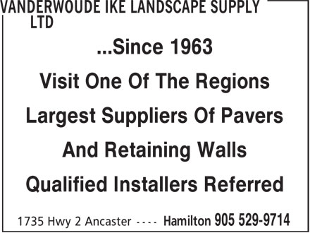 Ads Vanderwoude Ike Landscape Supply Ltd