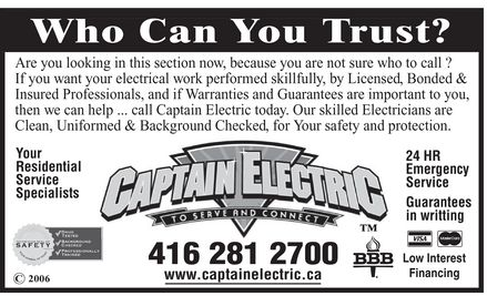 Ads Captain Electric Inc