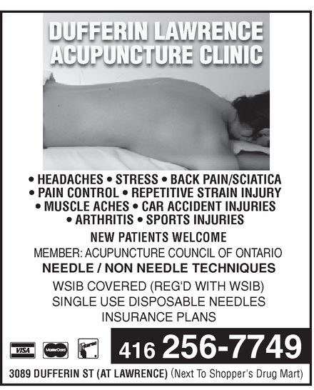 Ads Dufferin Lawrence Acupuncture Clinic