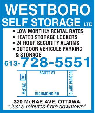 Ads Westboro Self Storage Ltd