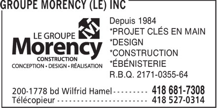 Ads Groupe Morency (Le) Inc