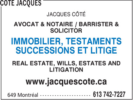 Ads Côté Jacques