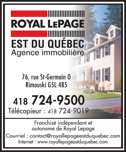 Ads Royal Lepage Est Du Quebec