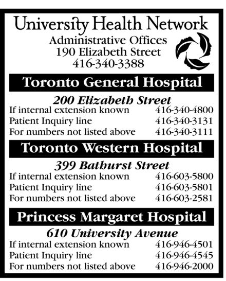 Ads University Health Network - Toronto General Hospital