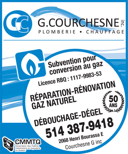 Ads Courchesne G Inc Plmbr