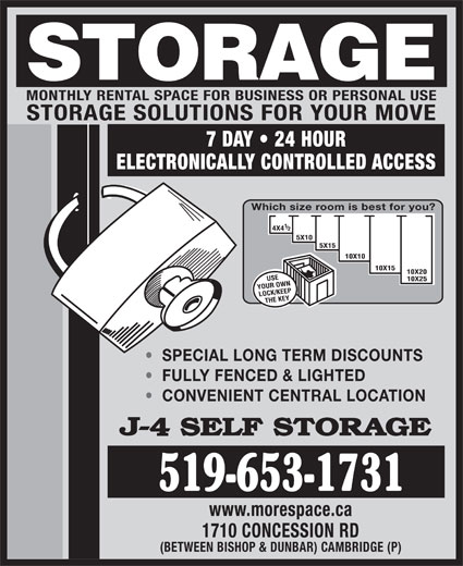 Ads J-4 Self Storage