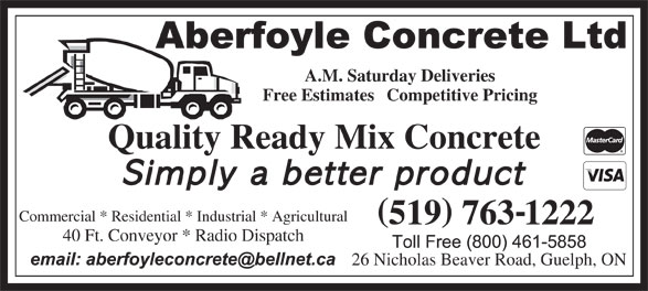 Ads Aberfoyle Concrete Ltd