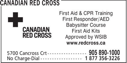 Ads Canadian Red Cross Society