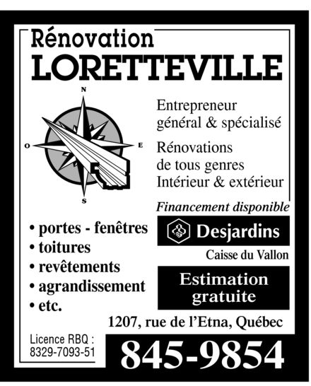 Ads Rénovation Loretteville