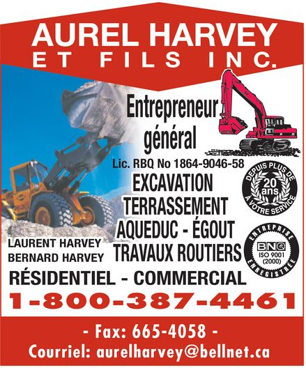 Ads Aurel Harvey &amp; Fils Inc