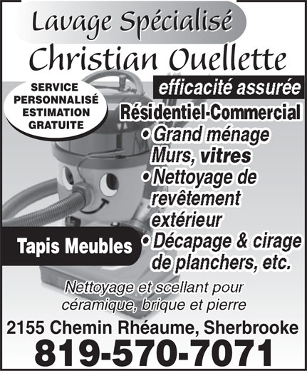 Ads Lavage Spcialis Christian Ouellette
