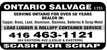 Ads Ontario Salvage Limited