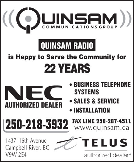 Ads Quinsam Radio Communications Ltd