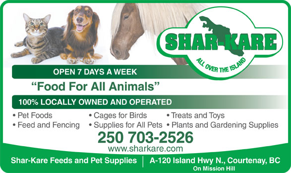 Ads Shar-Kare Feeds &amp; Pet Supplies