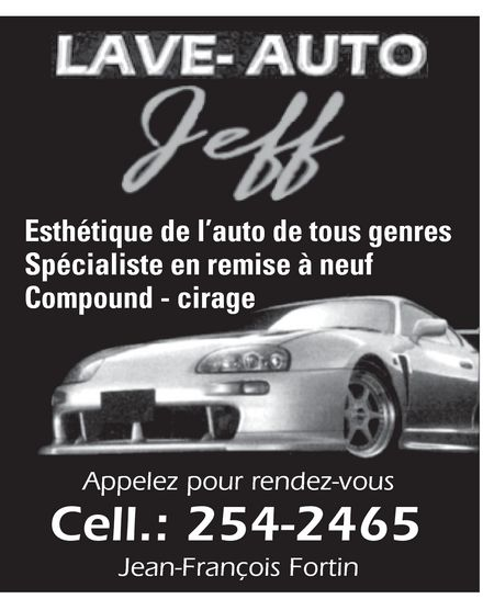 Ads Lave-Auto Sports Jeff