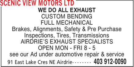 Ads Scenic View Motors Ltd