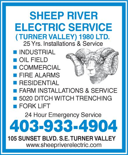 Ads Sheep River Electric Service (Turner Valley) 1980 Ltd
