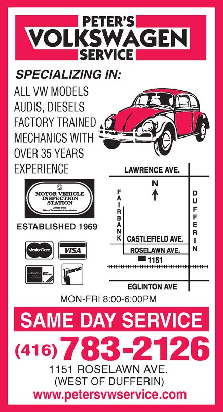 Ads Peter's VW Service