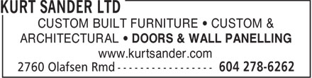 Ads Kurt Sander Ltd