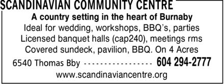 Ads Scandinavian Community Centre