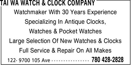 Ads Tai Wa Watch & Clock Company